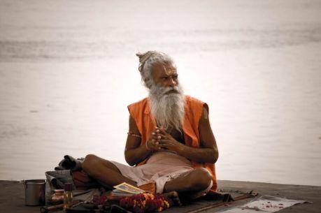 A picture of a Hindu Sadhu