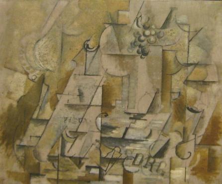 Georges Braque, Compotier, bouteille et verre, 1912