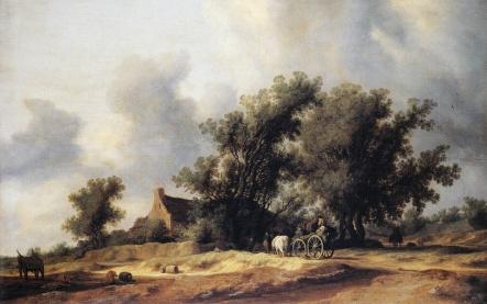 Road_in_the_Dunes_with_a_Passenger_Coach_(1631)_Salomon_van_Ruisdael
